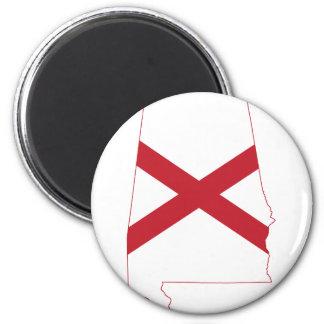 Imã Mapa da bandeira de Alabama