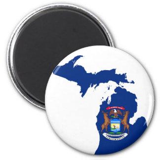 Imã Mapa da bandeira de Michigan