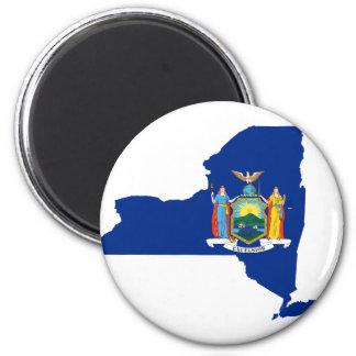 Imã Mapa da bandeira de New York