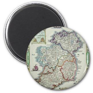 Imã Mapa de Ireland - mapa histórico de Eire Erin do
