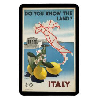 Ímã Mapa de Italia das viagens vintage com limões