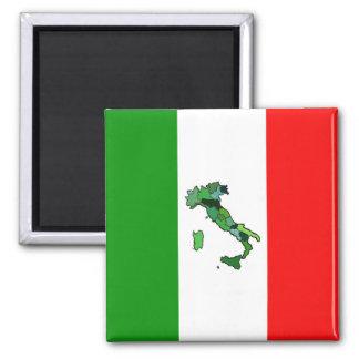Imã Mapa de Italia e da bandeira italiana
