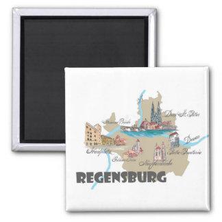 Imã Mapa de Regensburg Alemanha