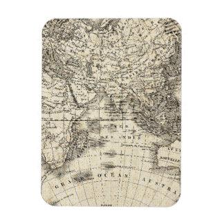 Ímã Mapa do vintage de Europa e de Ásia