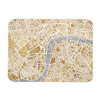 Ímã Mapa dourado da cidade de Londres