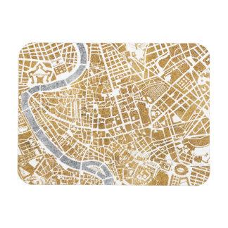 Ímã Mapa dourado da cidade de Roma