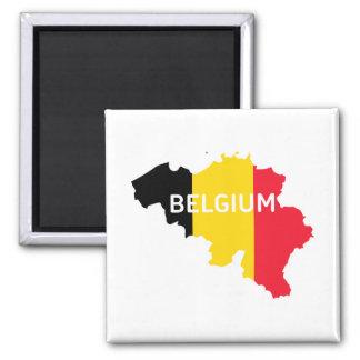 Imã Mapa e bandeira de Bélgica