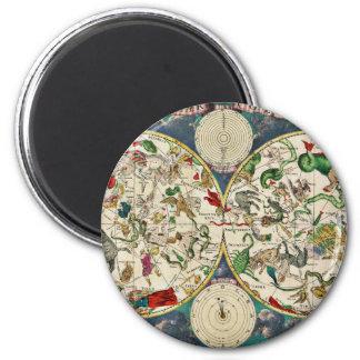 Imã Mapa histórico do zodíaco, 1670