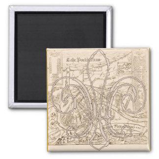 Imã Mapa velho de Nova Orleães com Fleur