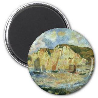 Imã Mar e penhascos por Pierre Renoir, belas artes do