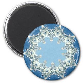 Imã máscaras circulares delicados do azul