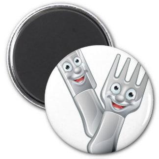 Imã Mascote da faca dos desenhos animados e da comida