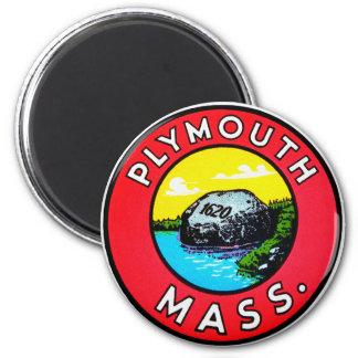 Imã Massa de Plymouth do decalque do kitsch do