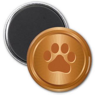 Imã Medalha de bronze do vencedor da exposição de cães