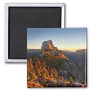 Imã Meia abóbada no detalhe do por do sol - Yosemite