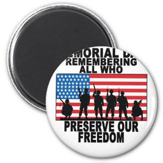Imã Memorial Day que recorda tudo que preserva nosso