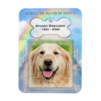 Ímã Memorial do cão da ponte do arco-íris
