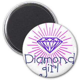 Imã menina do diamante, gema que brilha