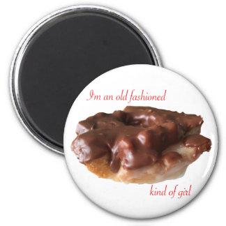 Imã Menina idosa da forma do chocolate da rosquinha