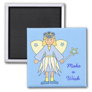 Imã Menina no traje feericamente -- Azul e limão