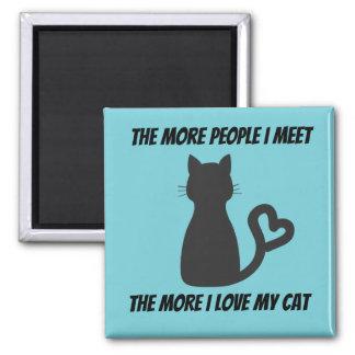 Imã Menos pessoas mais ímã dos gatos