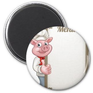 Imã Menu do cozinheiro chefe do personagem de desenho