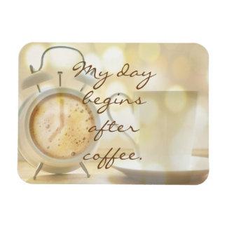 Ímã Meu dia começa após o café