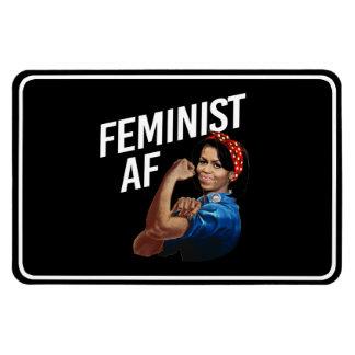 Ímã Michelle Obama - AF feminista - branco --