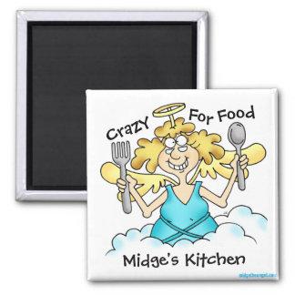 Imã Midge louco para o ímã customizável da comida