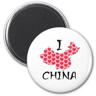 Imã Mim mapa de China do coração