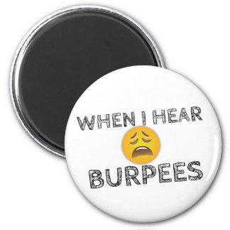 Imã Minha cara quando eu ouvir Burpees - Emoji virado