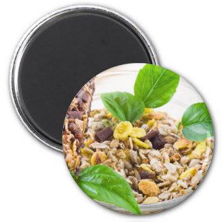 Imã Mistura seca de muesli e de cereal em uma bacia de