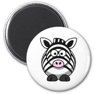 Imã Modelo bonito da zebra dos desenhos animados