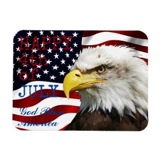 Ímã Moderno 4o julho E.U. EUA embandeira o americano