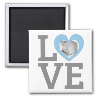 Imã Moderno azul do amor da foto feita sob encomenda