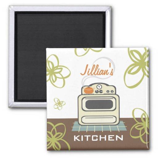 Ímã moderno da cozinha do fogão retro imãs
