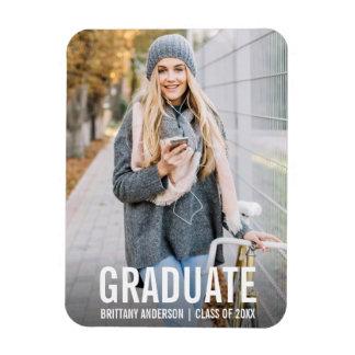Ímã moderno WBB da foto do anúncio da graduação