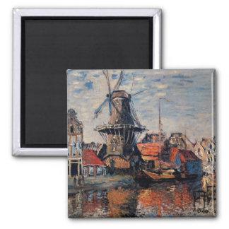 Imã Monet - moinho de vento no Onbekende