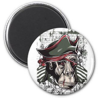 Imã monkey o design bonito do pirata