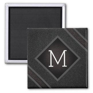 Imã Monograma de pedra preto corajoso moderno da