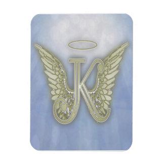Ímã Monograma do anjo da letra K