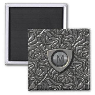 Imã Monograma gravado ID139 do protetor do metal