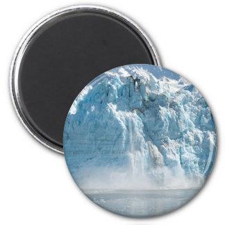 Imã Montanhas brancas abstratas de Alaska do gelo