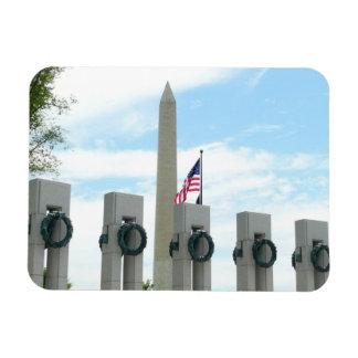 Ímã Monumento de Washington e memorial de WWII na C.C.