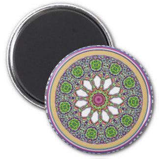 Imã Mosaico bonito do azulejo da flor da margarida