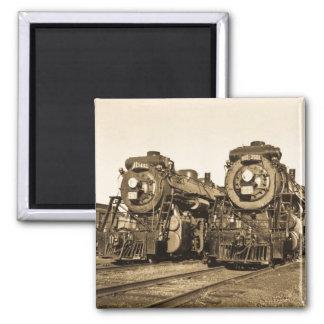 Imã Motores locomotivos do trem do vintage dos gêmeos