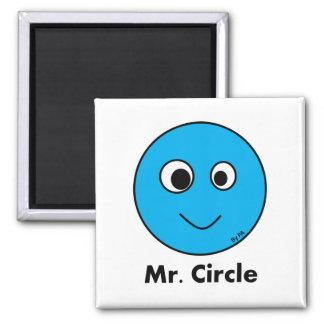 Ímã Mr. Circle By PA Ímã Quadrado