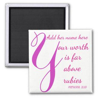 Imã Mulher dos provérbio 31 distante acima dos rubis