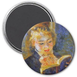 Imã Mulher que lê Auguste Renoir