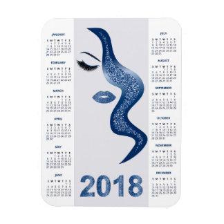 Ímã Mulheres com o calendário glittery da composição